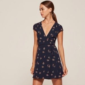 Reformation Oyster Dress Floral XSP petite